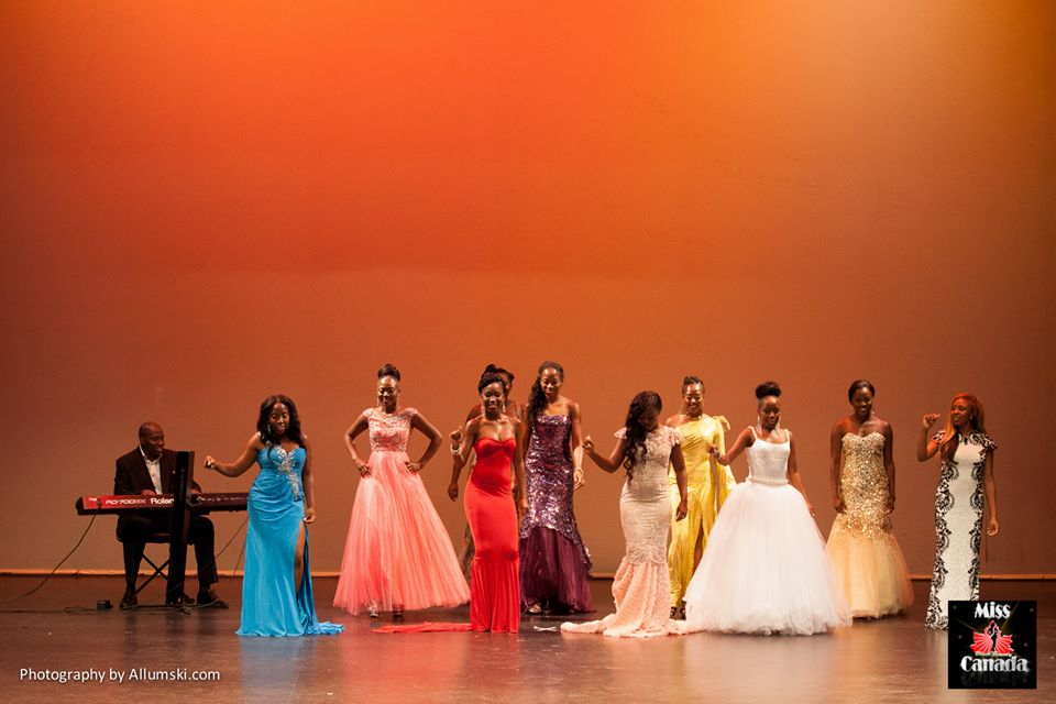 Black Beauty 2013 - Robert with some of Ladies on Stage